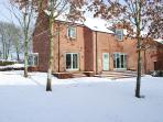 Kirkbride Hall is lovely in wintertime offering walks in the private woodlands of Melmerby