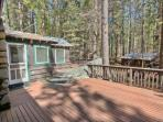 Large front porch/deck extends to side porch with gas BBQ