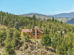 House is private and perched on top of a huge rock outcrop with 360 degree views.