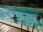Enjoying the large  Swimming pool and Sun Deck