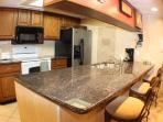 Granite island breakfast bar in the kitchen english briar chairs 2 wifis & a building wifi