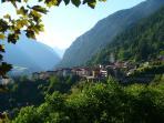 Scorcio di Canal san Bovo, capoluogo della valle del Vanoi