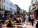 The North Laines 10 minutes walk from the house - crammed with cafés, bars & boutiques