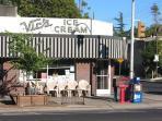 Infamous Vic's Ice Cream a block away