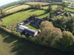 An aerial view of the 900 year old Jurston Farm estate
