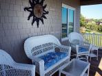Comfortable seating on the deck.