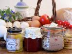 Breakfast goodies - local Somerset and homemade produce