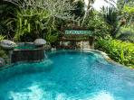 Pool with cascades