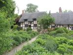 local attractions: Ann Hathaway's house, Stratford upon Avon