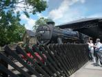 North York Moors Steam railway, Pickering Station, 15 minutes walk from cottages