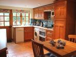 The fitted kitchen/dining room