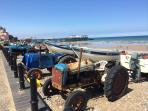 Watch the Crab Boats return on the Beach