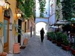 Trastevere is filled with restaurants, wine bars, boutiques, nightlife