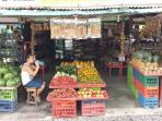 Fresh fruit stands all over the street
