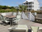 Large Southfacing Deck with some oceanviews