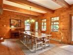 Dinning room has plenty of space to seat up to 10 people.  Direct access to screen-in porch