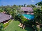 Villa Frangipani, Canggu, Bali, Indonesia - Aerial view of Villa and surrounds