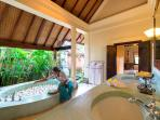 Master Suite Bathroom at Villa Frangipani