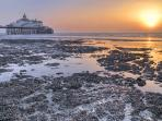 Sun rise with Eastbourne pier