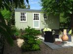 Shepherds hut with its own private garden and BBQ area