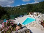 panoramic of the swimming pool