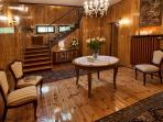 Downstairs Hall functions as a a reception room or party hall