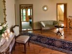 Upstairs Hall functions as a relaxation space where both reading and chatting are enjoyable