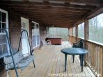 Smokey's Edge Front Deck with Hot Tub & Mtn View