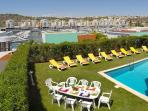 Garden and swimming pool and Magnificent View to Albufeira's Marina