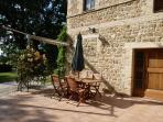 The terrace of apartment Vettore