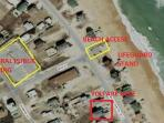 Beach access at Byrd St. access across the beach road. steps from property. wagon provided