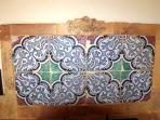 Hand-made and decorated tiles in the kitchen