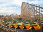 40 mins Europe's largest wooden rollercoaster opens at Tayto Park