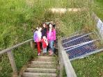 Guests at Finnis Souterraine- Underground man made caves 1 mile from house