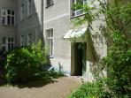 summer courtyard