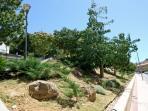 Jardines del Campus El Ejido en la acerra de enfrente.
