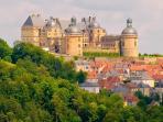 Chateau de Hautefort and village!