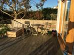 Upper decking area, fantastic view and great dining, relaxation space.