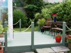 Decking and garden