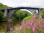 The Iron Bridge 20 minutes walk
