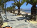 Beach with promenade within 10 minutes driving distance