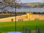 View of the Play park and Beach