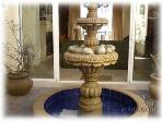 Courtyard fountain at the villa entryway