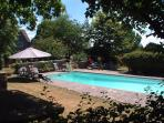 The heated swimming pool is available in the summer months