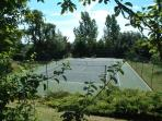 The hard tennis court