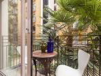 Balcony - built around a tropical style atrium, providing a small oasis in the heart of the city