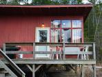 1BR Cabin with sandy beach and boat access