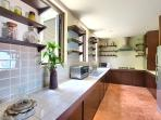 Spacious European style kitchen with all amenities you would expect