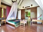 Master en-suite Bedroom 2 - spacious with stunning ocean / sunset views