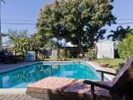 Pool Area shared with host. You are welcomed and encouraged to jump in!